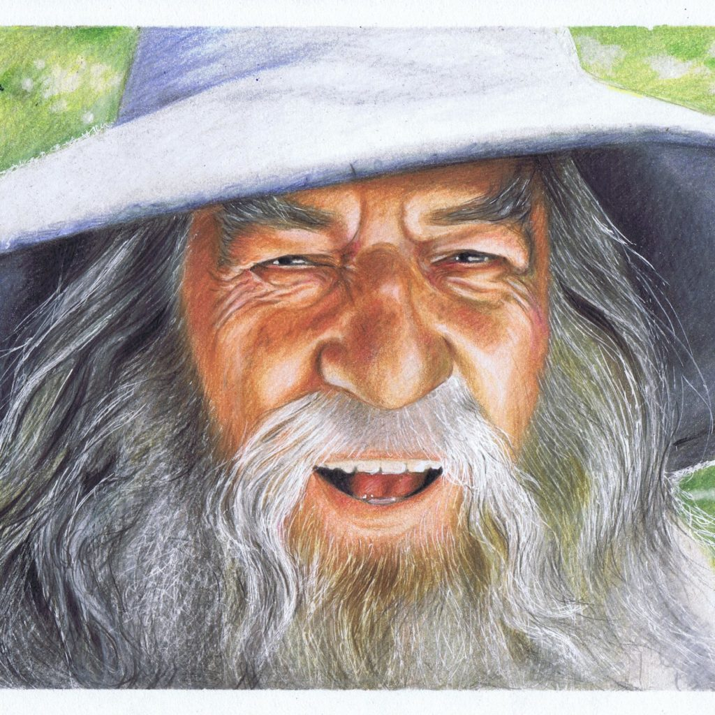 Gandalf, Władca Pierścieni, portret w kolorze, kamazawadzka.pl